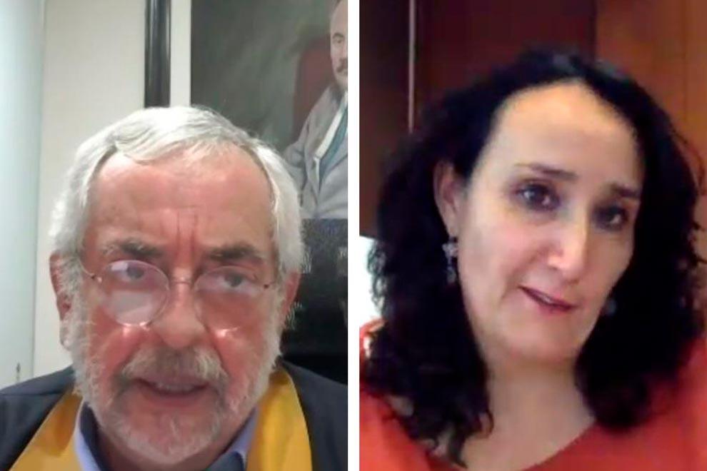 en la foto están el rector de la unam y la coordinadora de la cigu Tamara Martínez Ruíz
