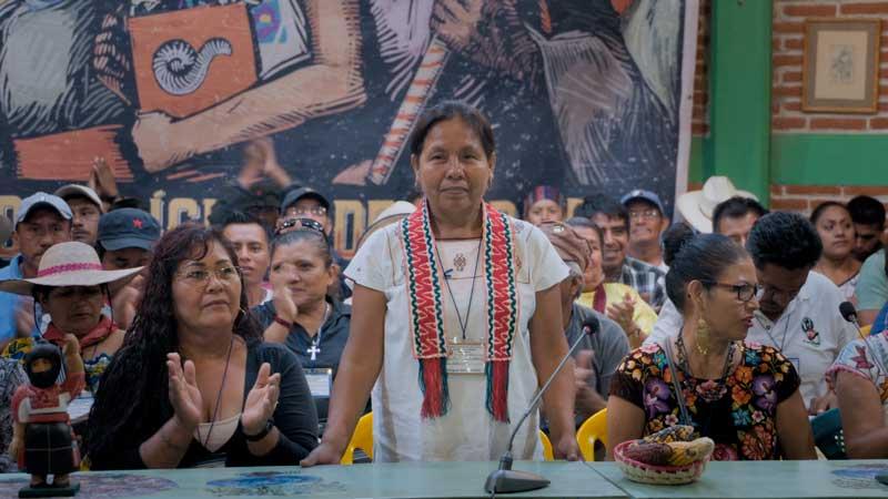 una fotografía, de Marichuy, vocera del Concejo Indígena de Gobierno