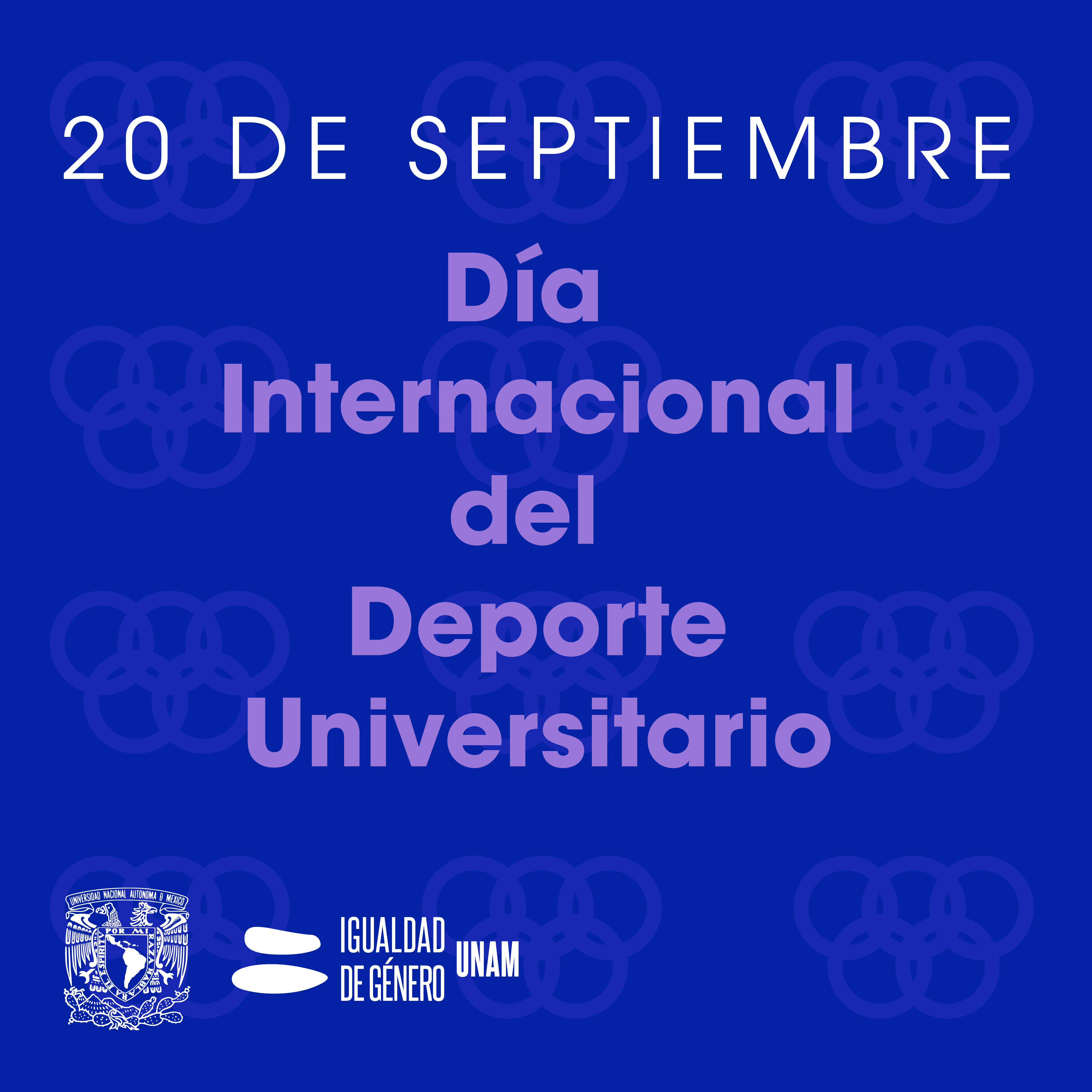 Día internacional del deporte universitario CIGU UNAM