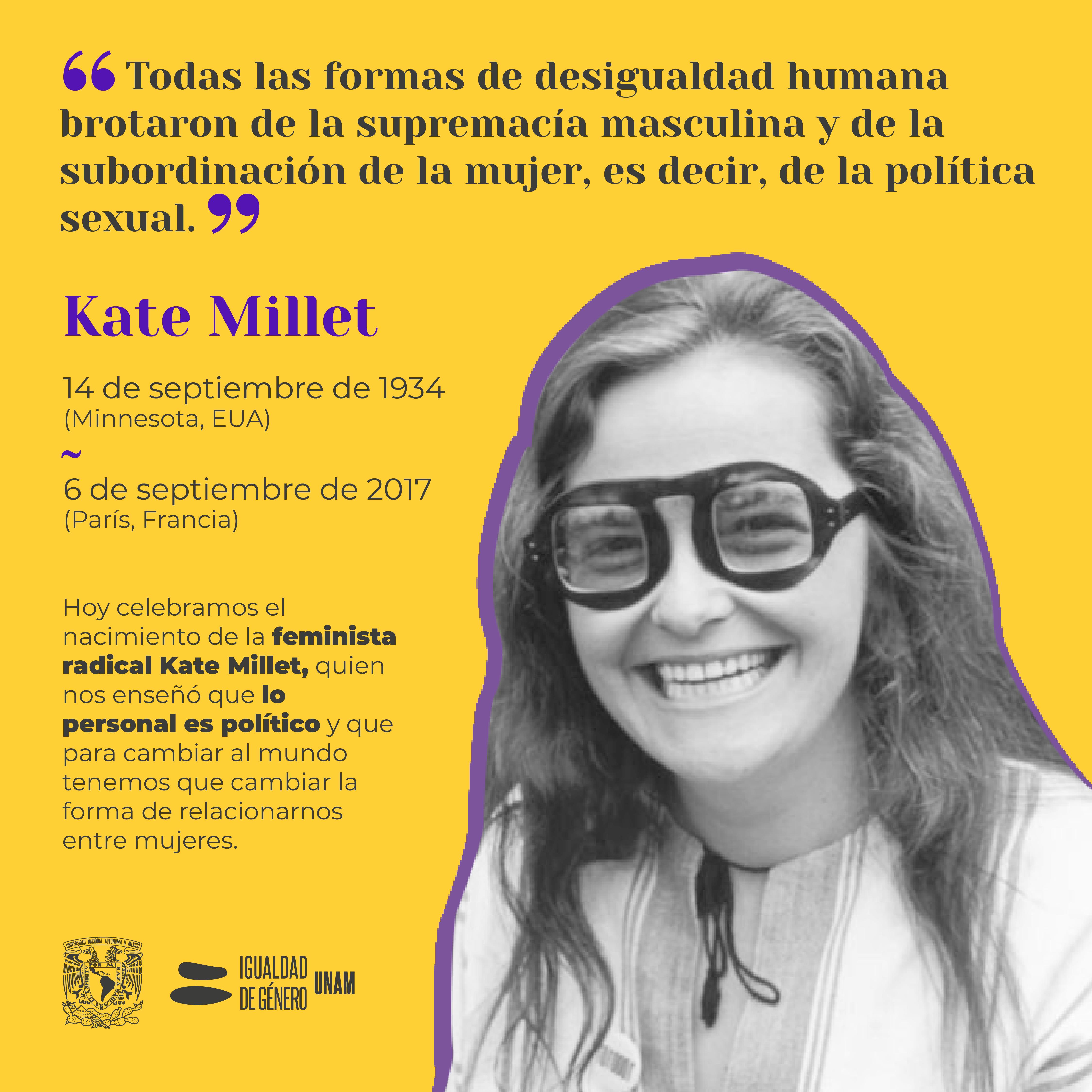 Kate Millet feminista radical CIGU UNAM