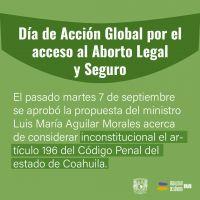 Día acción global aborto UNAM CIGU